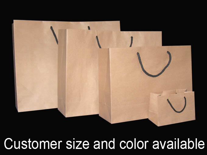 Brown Paper Shopping Bags Wholesale