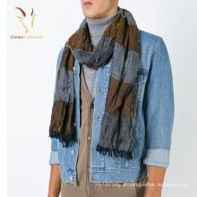 Cachecol de lã misturado tecido para homens