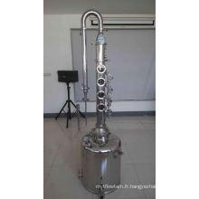 Chaudière à lait en acier inoxydable avec distillateur de colonne / alcool / Distiller à l'alcool à la maison