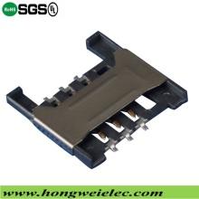 Push Push H = 1,80 Mm 6p Socket SIM-карта Разъем