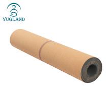 Yugland beautiful design eco-friendly anti-slip premium cork yoga mat