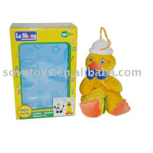 913990737-Baby bell plush duck toy