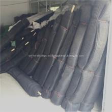 Red de bolsa de cuerda negra de 25 mm
