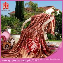 Double sided cheap 800g/850g/900g flannel fleece blanket