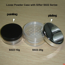 20g Clear Powder jar with Shiny Silver Cap