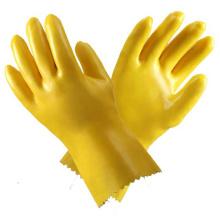 Gelbe PVC-Haushalt Wasserdichte Handschuhe