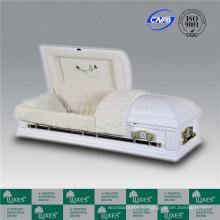 Американский белый цветные шкатулки гробы для похорон кремации