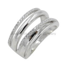 Sterling Silver Jewelry High Polished Finger Ring Women′ Gift (KR3054)