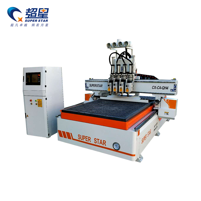 High speed multihead wood machine
