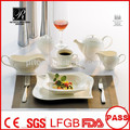Wholesale durable white porcelain plates high quality dinnerware sets for banquet restaurant