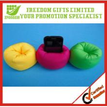 Supports de téléphone portable de sac d'haricot imprimés par logo fait sur commande de promotion de promotion