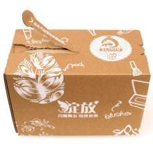 Boîte de carton avec bande de déchirure à glissière