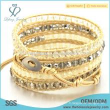 Bracelets personnalisés en cuir en perles en cuir, bracelet en cuir Bohemia en cuir
