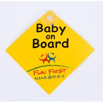 Decorative Baby PP Warning Board