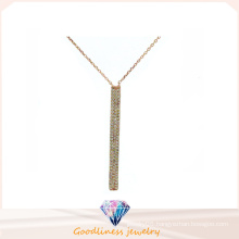 Woman Fashion Jewelry 3A CZ 925 Silver Necklace (N6627)