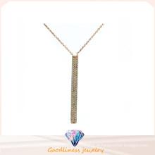 Jóia da forma da mulher 3A CZ 925 colar de prata (N6627)