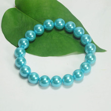 Simple Design Blue Pearl Bracelet Women