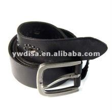 Cinturón de cuero genuino de hombre clásico