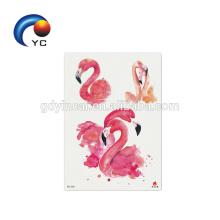 Tier Flamingo Mode Body Art Fake Tattoo wasserdicht temporäre Tätowierung Aufkleber