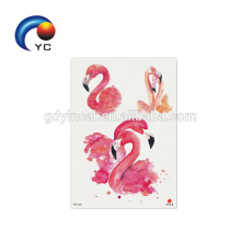 Animal Flamingo Fashion Body Art Fake Tattoo Waterproof Temporary Tattoo Sticker