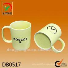 Novo produto amarelo vitrificada copo de água de cerâmica