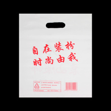Shopping Plastic Bag with Die Cut Handle