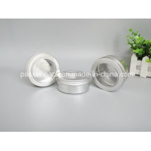 50ml Aluminiumglas mit Fensterdeckel für Kosmetikverpackung (PPC-ATC-062)