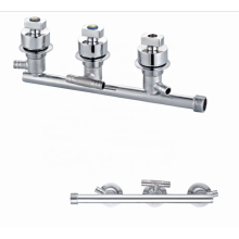 Factory brass chrome mixers 3 functions  independent outlet taps faucet