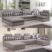 Couch L Berbentuk Fabric Lounge Sectional Sofa