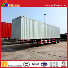 Semi-remorque forte de boîte en acier incluse par camion de transport de cargaison