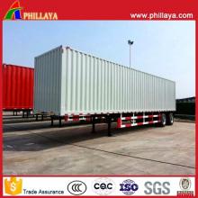 Reboque da caixa de aço forte fechado do caminhão do transporte de carga semi