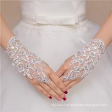 Guante atractivo del cordón de la boda de la decoración del knit del cordón de la señora de la nueva manera del diseño guante