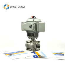 "JKTLEB021 actuator shut off 3/8"" forged steel ball valves"