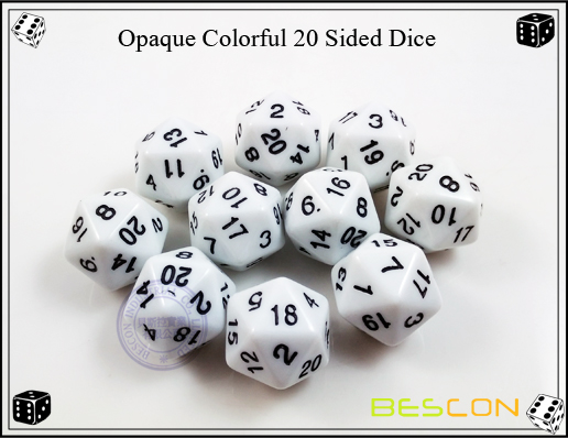 Opaque Colorful 20 Sided Dice-7