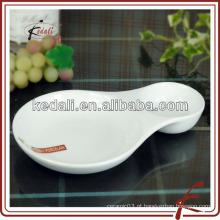 Prato de cerâmica de cerâmica branca eco