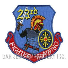 100 % Embroidered Patches - Fighter Training