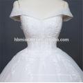 Роскошные рукава тяжелый вышивка бисером Китай свадебные платья Гуанчжоу