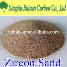 66% de sable de zircon réfractaire de haute pureté