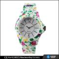 water transfer printing new fashion ladies watch plastic bracelet, Japan quartz watches