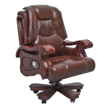 Classic Swivel Tufted Office Used Leather Chair (FOH-1313)