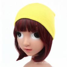 Children Baby Kids Knitted Hat Solid Skull Cap Warm Beanie (HW631)