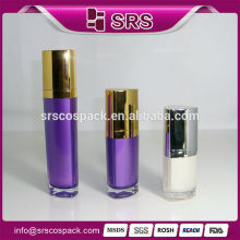China Wholesale 15ml 30ml 50ml Face Cream Bottle AND Acrylic Material Triangle Cosmetic Container Unique Shaped Plastic Bottles
