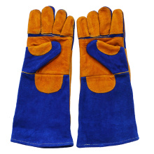 Long Double Palm Cowhide Heat Resistant Safety Welding Gloves