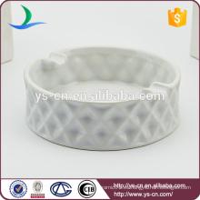 Venta caliente moderna ceniceros de cerámica blanca