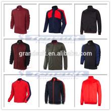 Latest design polyester football men jacket low price thai quality soccer jacket coat sports wear training warm up jacket soccer