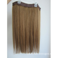 2014 Hot Selling Double Drawn Flip in/Halo Hair Extension