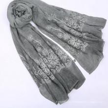 Леди мода 180*вес 90size 100 gorganic хлопок шарф женщины хлопок хиджаб шарф