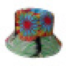 Chapéu de balde com tecido floral (BT025)