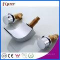 Fyeer Sanitary Ware Double Handle Bathroom Waterfall Spout Basin Mixer