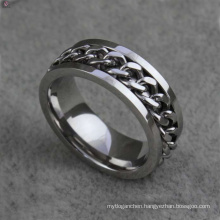 Unique stainless steel chain rings jewelry, flexible ring jewelry